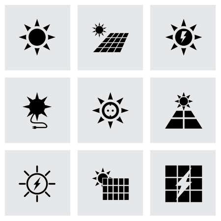 fire plug: solar energy icon set on grey background