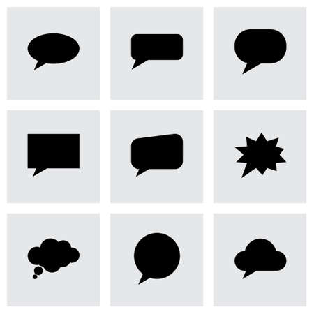 bubble: speach bubbles icon set on grey background