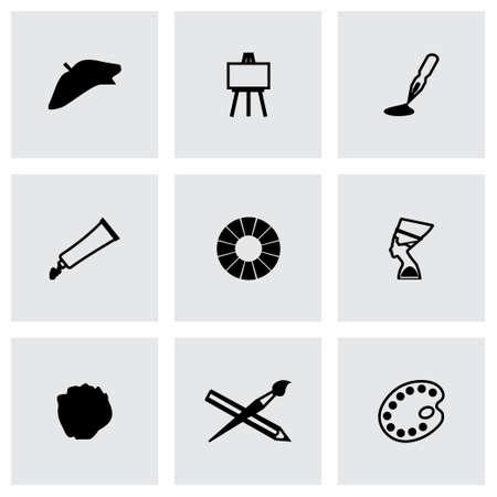 digitizer: Vector Art icon set on grey background