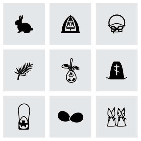 hatchling: Easter icon set on grey background