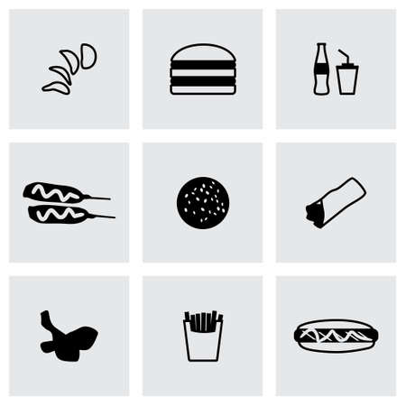 chinese takeout box: Fast food icon set on grey background