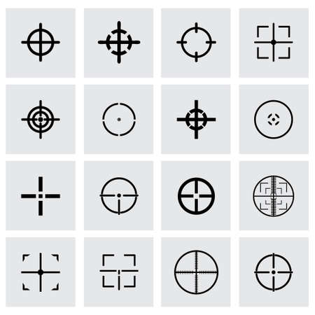 cross hair: cross hair icon set on grey background Illustration