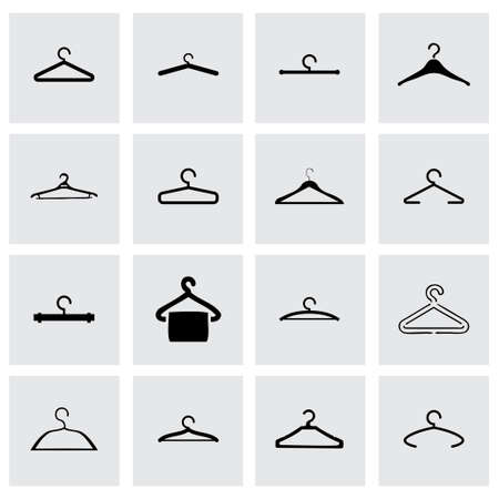 hanger icon set on grey background Vector