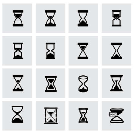 Vector hourglass icon set on grey background Vector