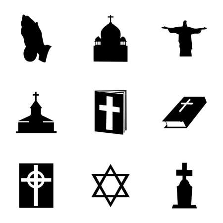 triskel: Vector religion icons set on white background