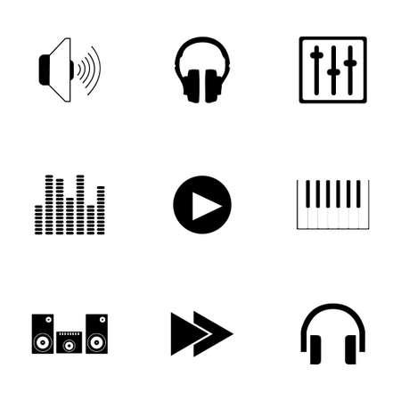 Vector sound icons set on white background Illustration