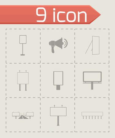 advertisement: Vector Anzeige Symbol auf grauem Hintergrund Illustration