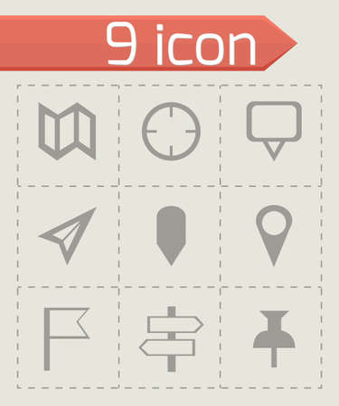 marks: Vector check marks icons set on grey background