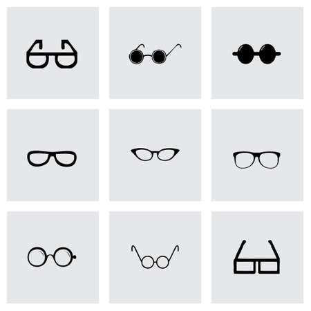 wayfarer: Vector glasses icon set on grey background Illustration