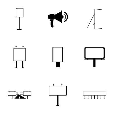 advertisement: Vector Anzeige-Symbol auf wei�em Hintergrund