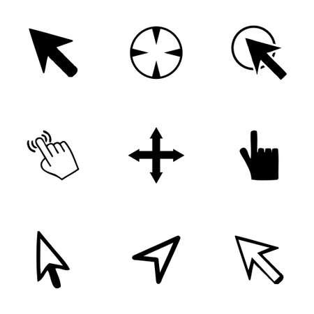 Vector cursor icons set on white background Illustration