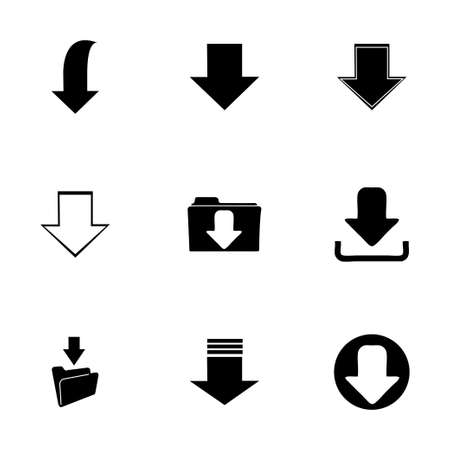 vector download: Vector download icons set on white background Illustration