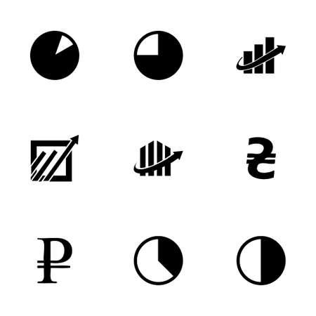 economic: Vector economic icons set on white background
