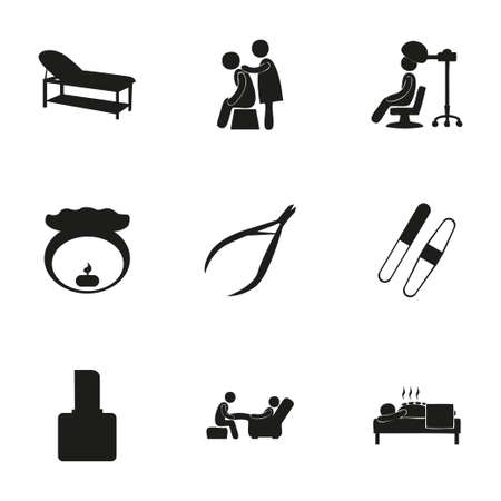 papering: Vector spa icon set on white background Illustration