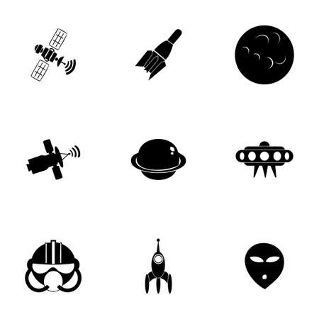 Vector space icon set on white background Vector