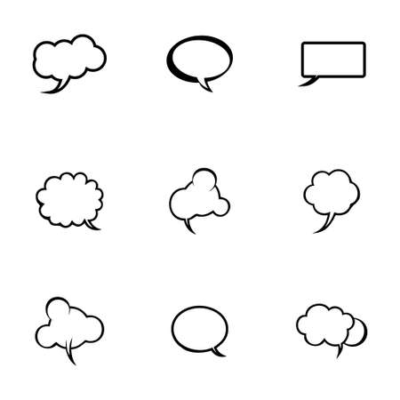Vector speech bubbles icon set on white background