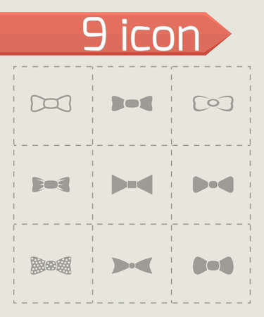Vector bow ties icon set on grey background Vector