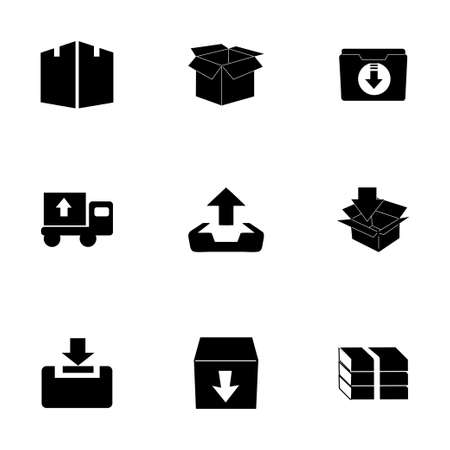 Vector archive icon set on white background Vector