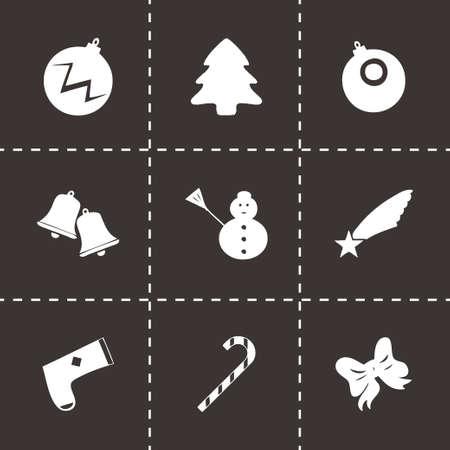 cristmas: Vector cristmas icons set on black background Illustration