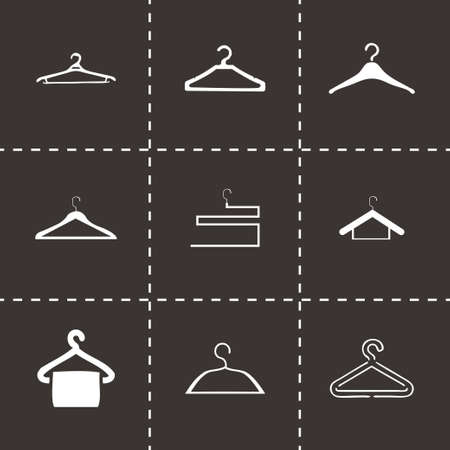 Vector hanger icons set on black background Vector