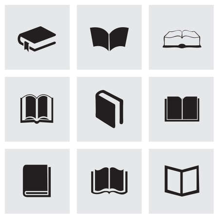schoolbook: Vector schoolbook icons set on grey background