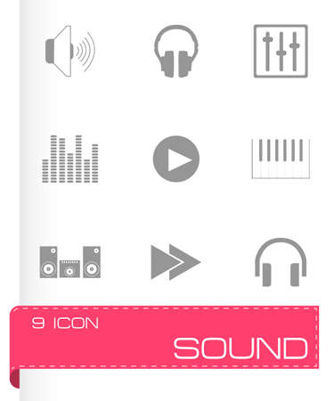 laud: Vector sound icons set on white background Illustration