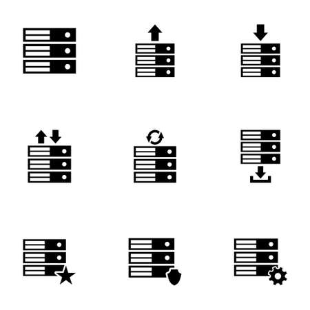 database icon set on white background Vector