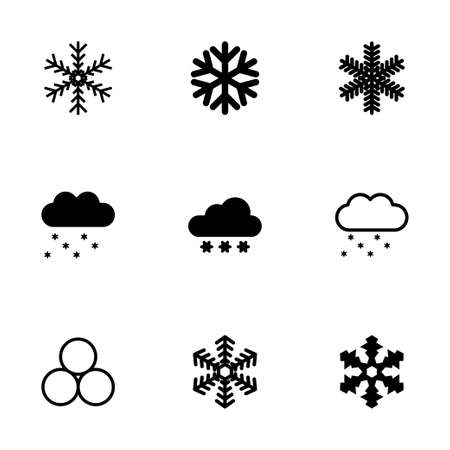 snow icon set on white background Vector
