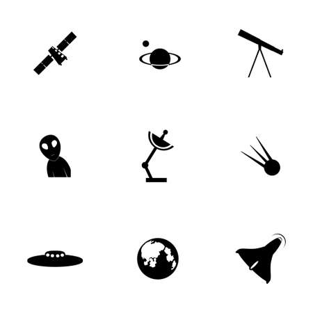 space icon set on white background Vector