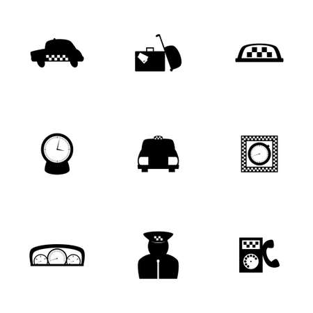 Vector taxi icon set on white background Vector