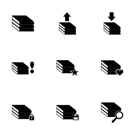 archive icon set on white background Vector