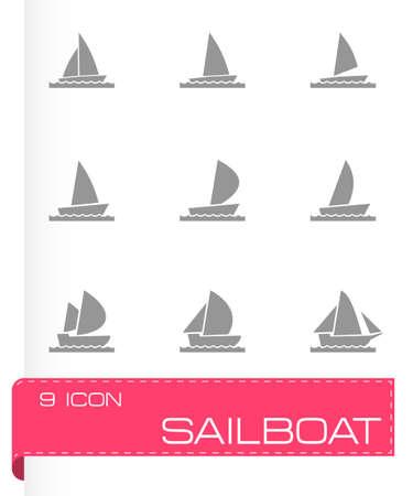 inflate boat: sailboat icon set on white background Illustration
