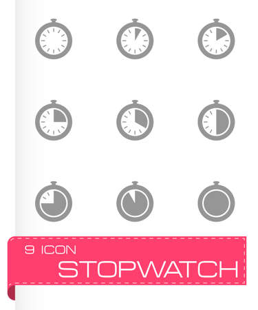 cronometro: cron�metro conjunto de iconos sobre fondo gris