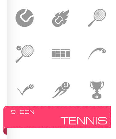 tennis shoe: tennis icon set on grey background