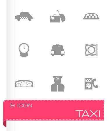 taxi icon set on grey background Vector