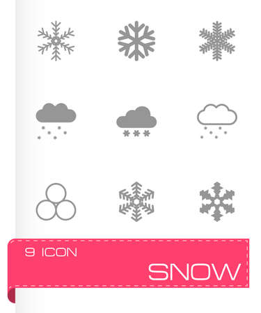 snow icon set on grey background Vector