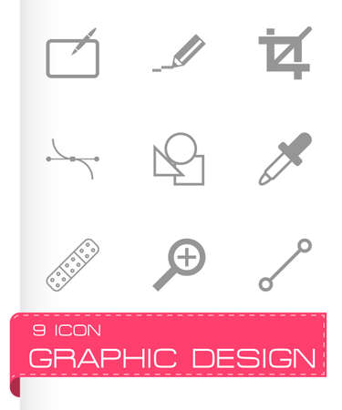 graphic design: Vector graphic design icons set on white background