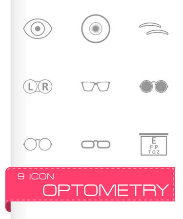 optometry: optometry icons set on white background
