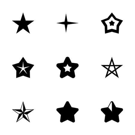 stars icon set on white background Vector