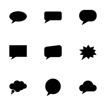 speech bubbles icon set on white background Vector