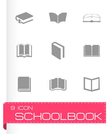 schoolbook: schoolbook icons set on white background