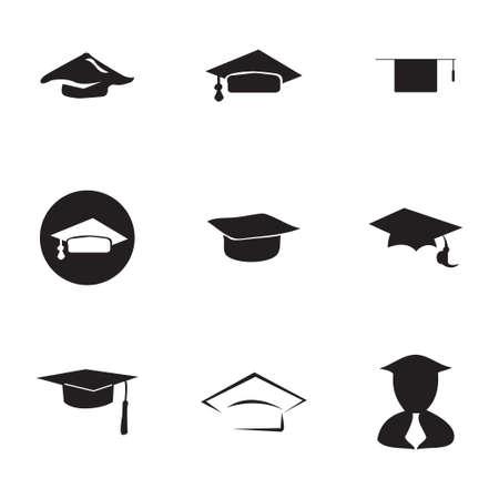 valedictorian: academic icon set on white background Illustration