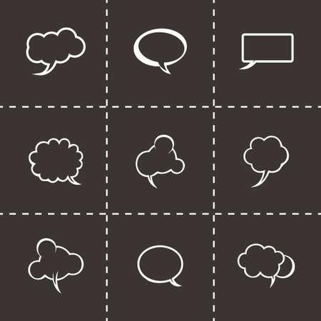 laugh out loud: speech bubbles icon set on black background