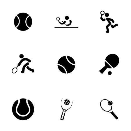 tennis shoe: tennis icon set on white background Illustration