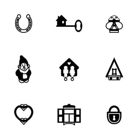 shower room: Vector House icon set on white background