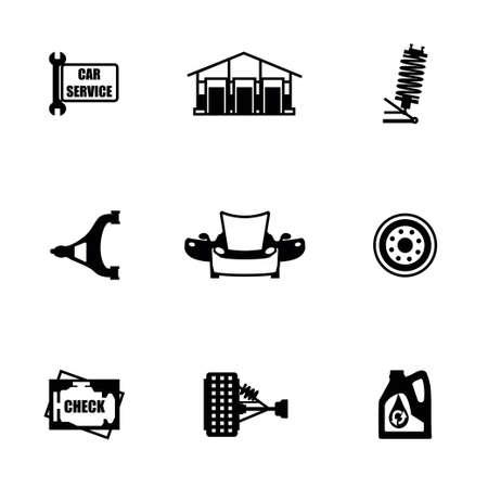disk break: Vector Car sevice icon set on white background Illustration