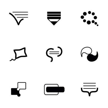 delegation: Vector Bulds icon set on white background
