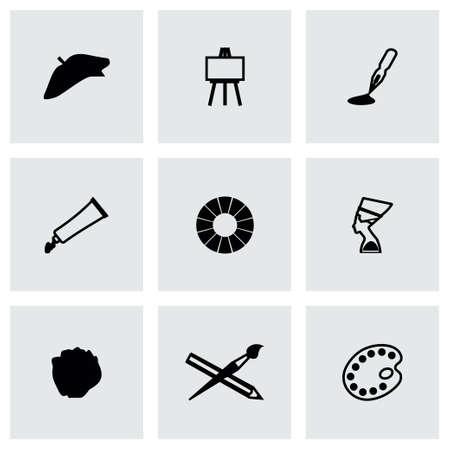 Vector Art icon set on grey background