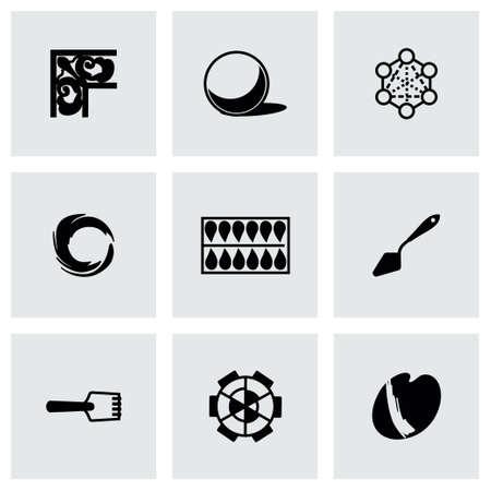 digitizer: Vector Art tool icon set on grey background