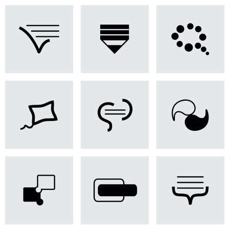 delegation: Vector Bulds icon set on grey background